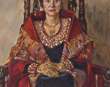 Portrait of Maya Aymedova, People's Artist of USSR