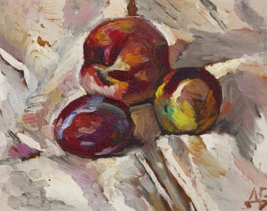 Peach and Plums