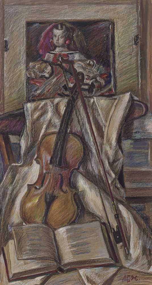Untitled (Violin and Margarita by Velázquez)
