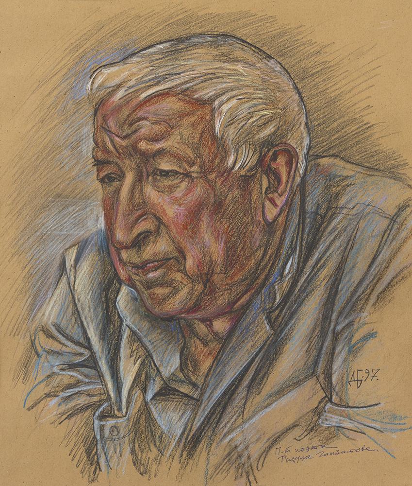 Portrait of Rasul Gamzatov, Poet